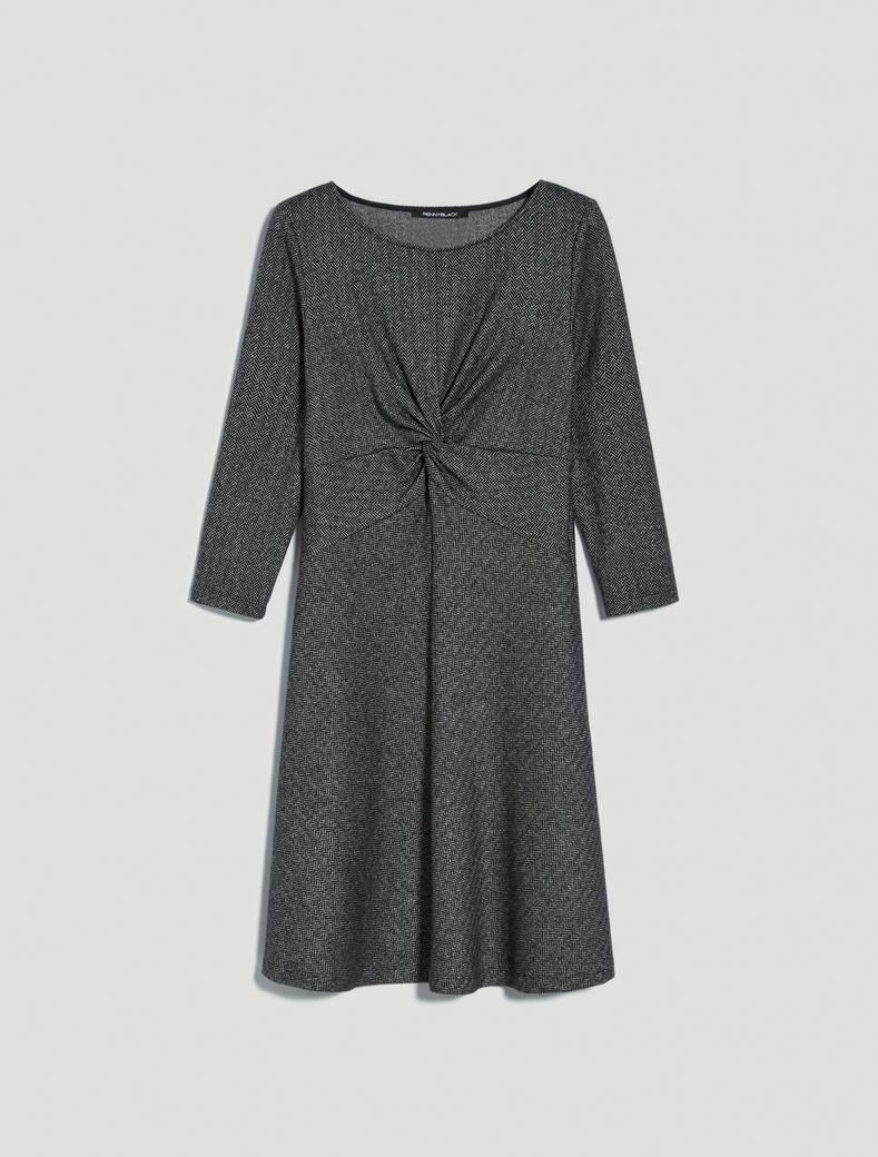 Draped jersey dress - black pattern - pennyblack