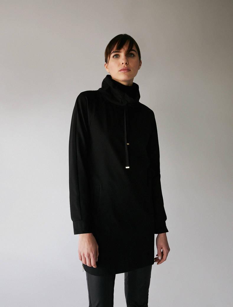 Jersey sweatshirt dress - black - pennyblack