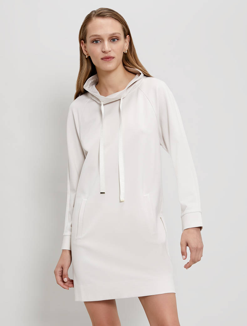 Jersey sweatshirt dress - ivory - pennyblack