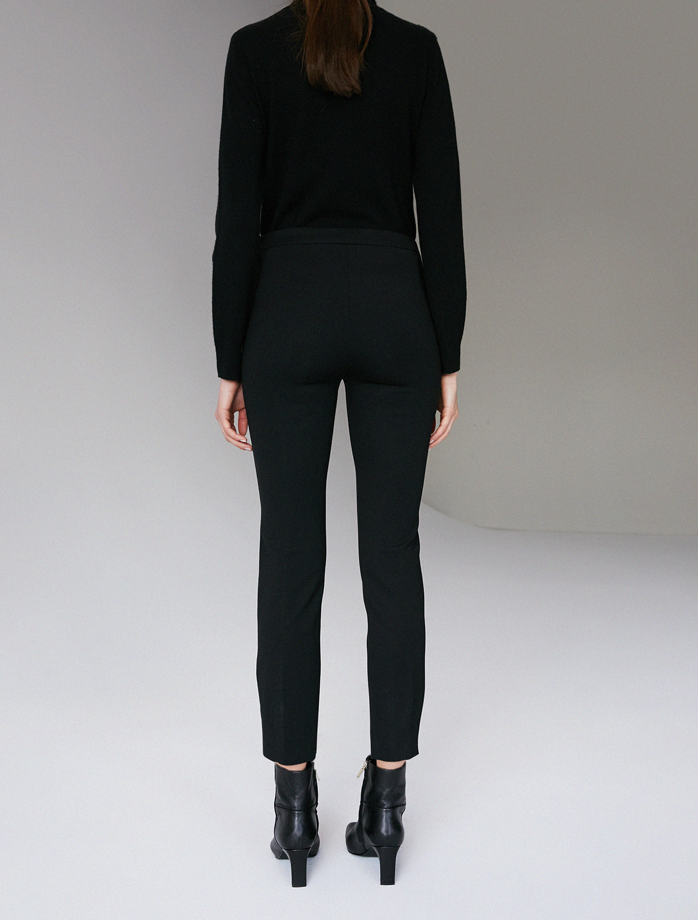 Stretch jersey slim trousers - black - pennyblack