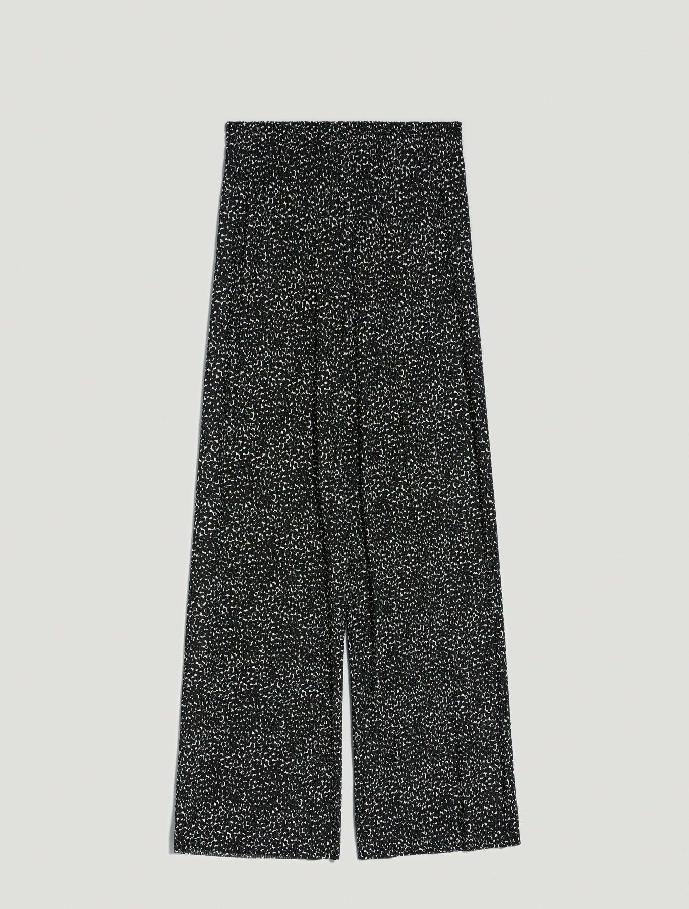 Trousers in micro-pleated jersey - black pattern - pennyblack