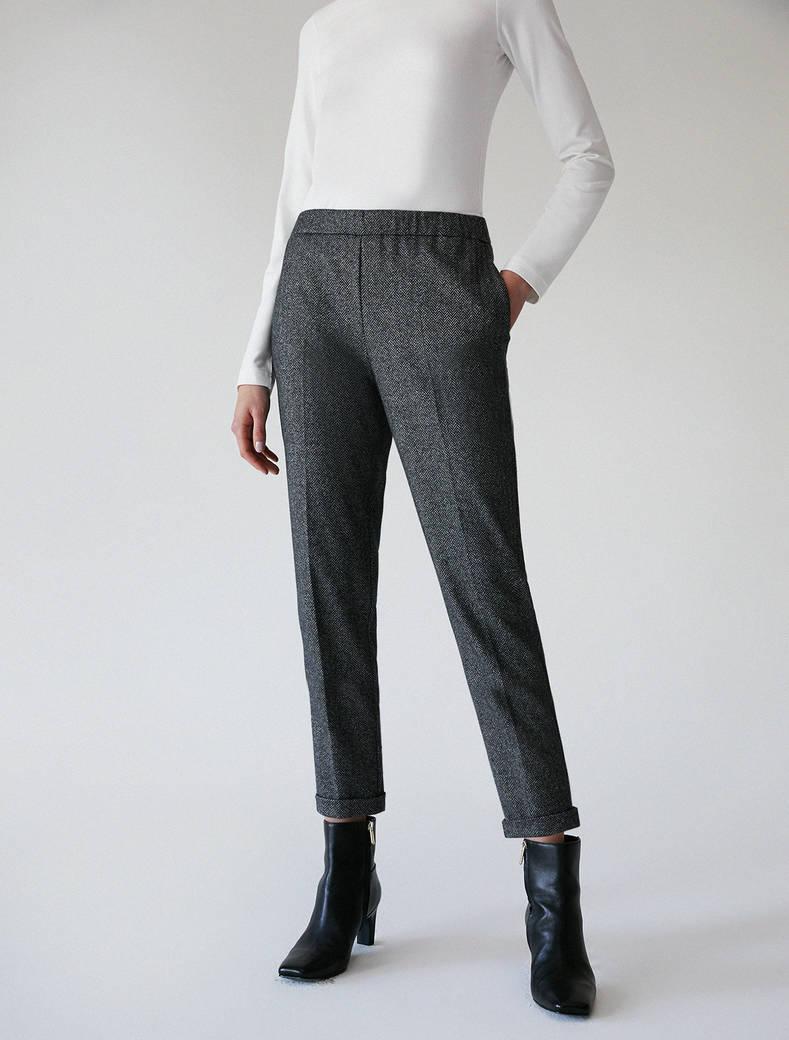 Soft jersey trousers - black pattern - pennyblack