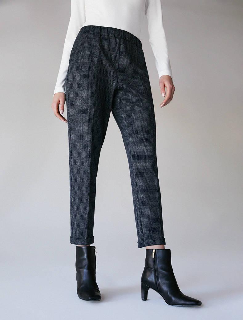 Soft jersey trousers - midnight blue pattern - pennyblack
