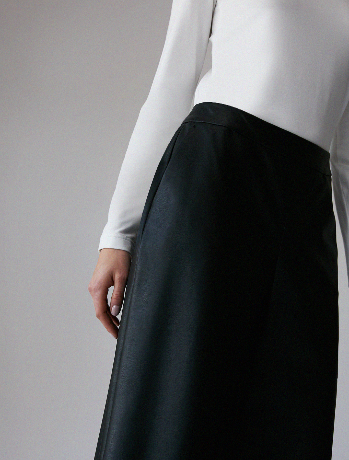 Culottes in coated jersey - black - pennyblack