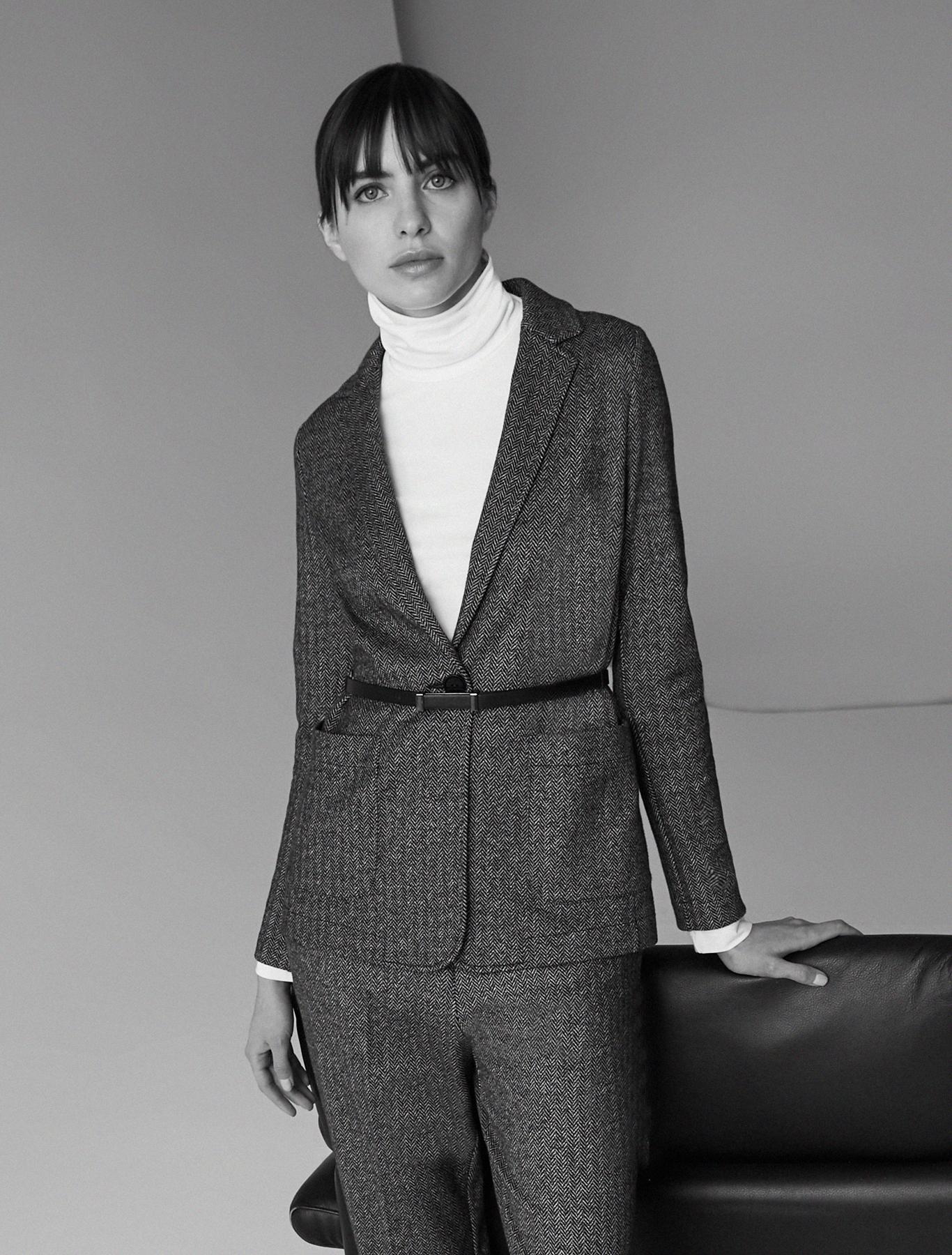Soft jersey blazer - black pattern - pennyblack