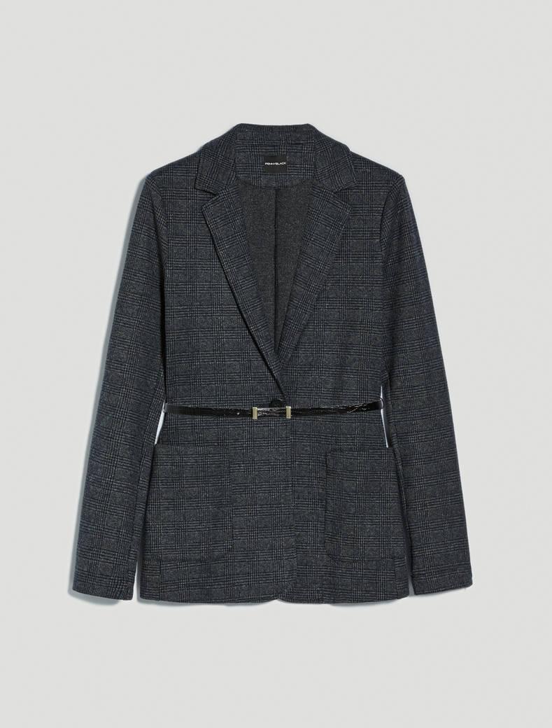 Soft jersey blazer - midnight blue pattern - pennyblack
