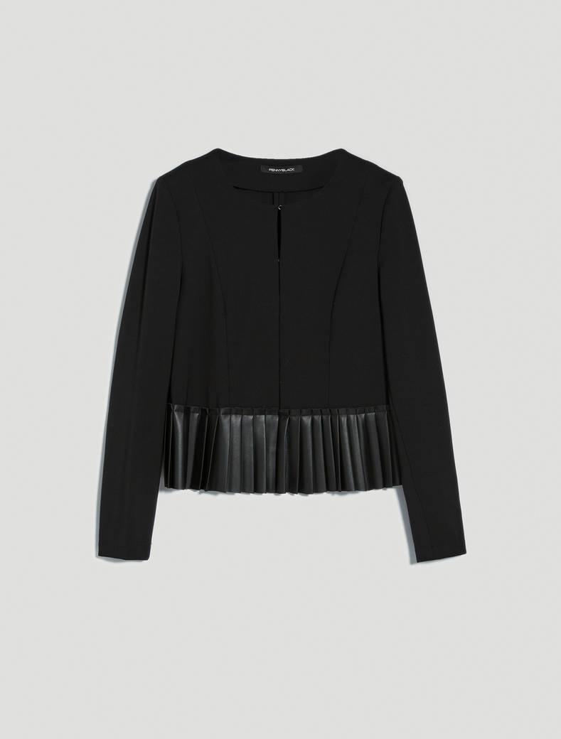 Pleated jersey dress - black - pennyblack