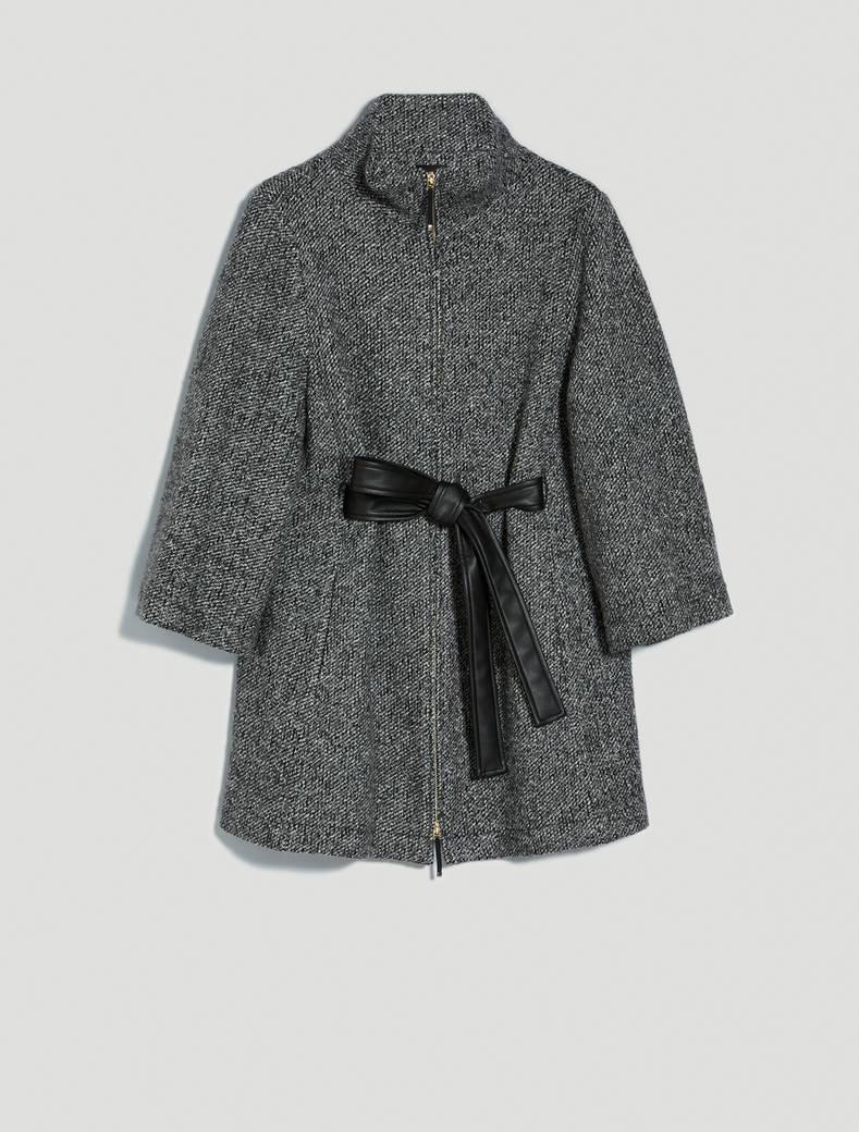 Warm jersey cape - black pattern - pennyblack