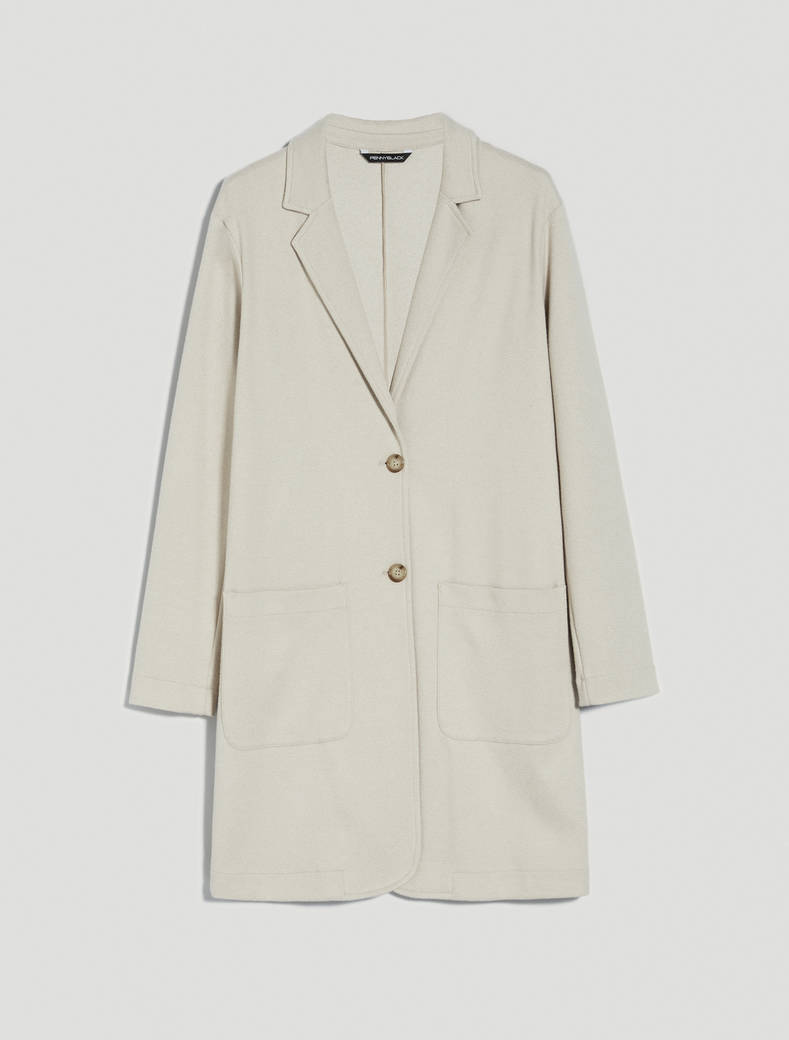 Long jersey jacket - sand pattern - pennyblack