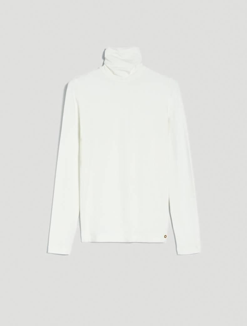 Fluid jersey polo neck - ivory - pennyblack