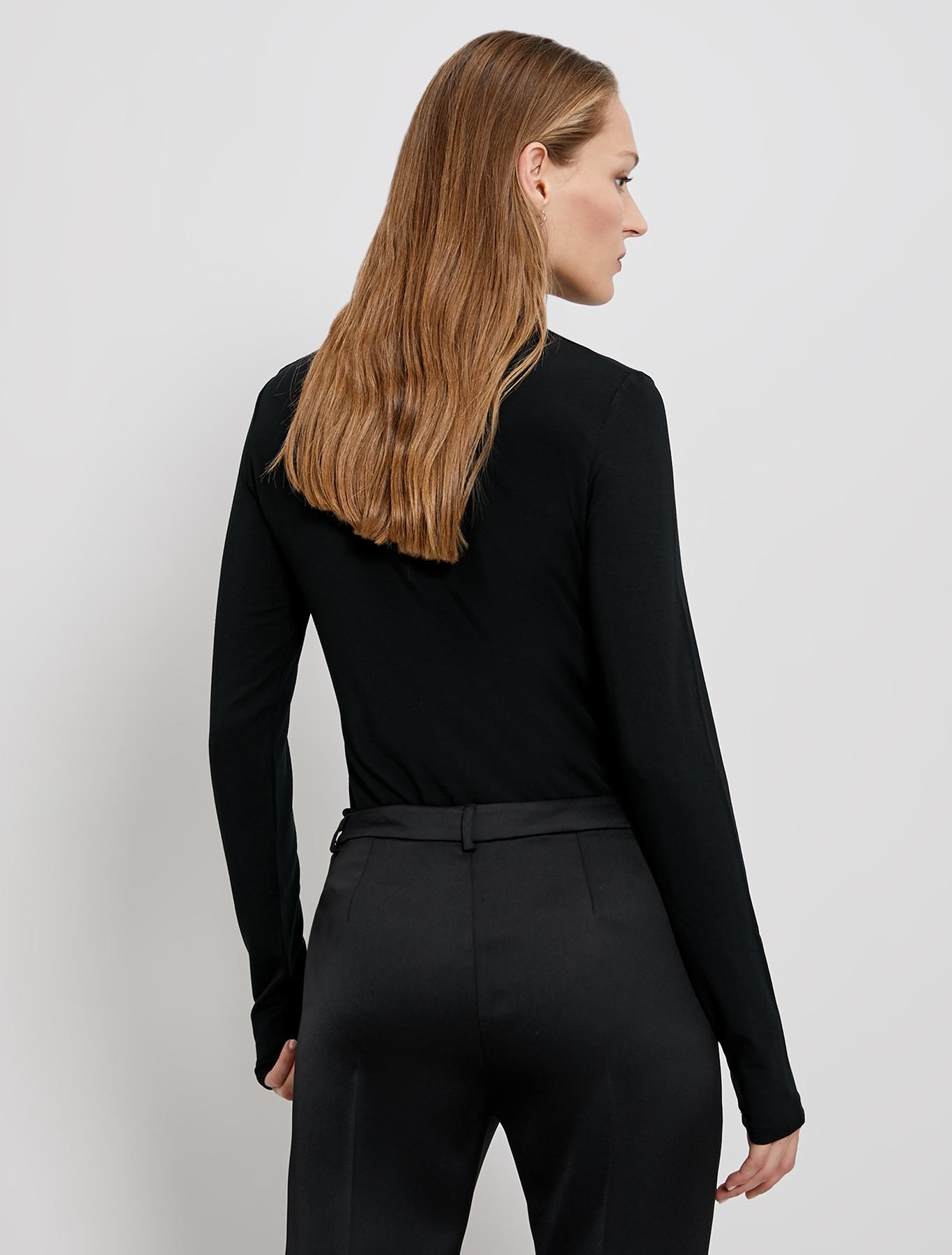 Fluid jersey polo neck - black - pennyblack