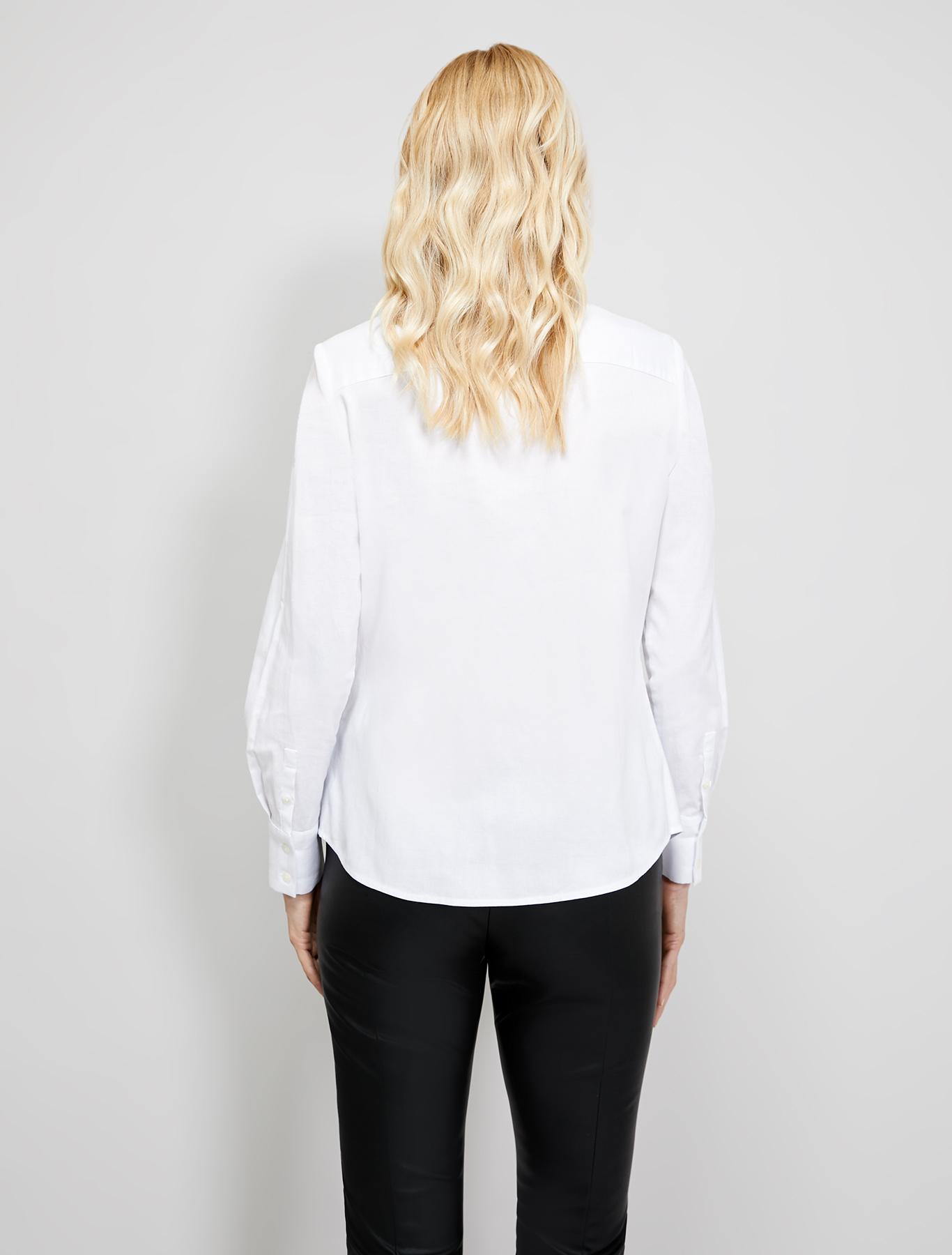 Shirt with bijou collar - white - pennyblack