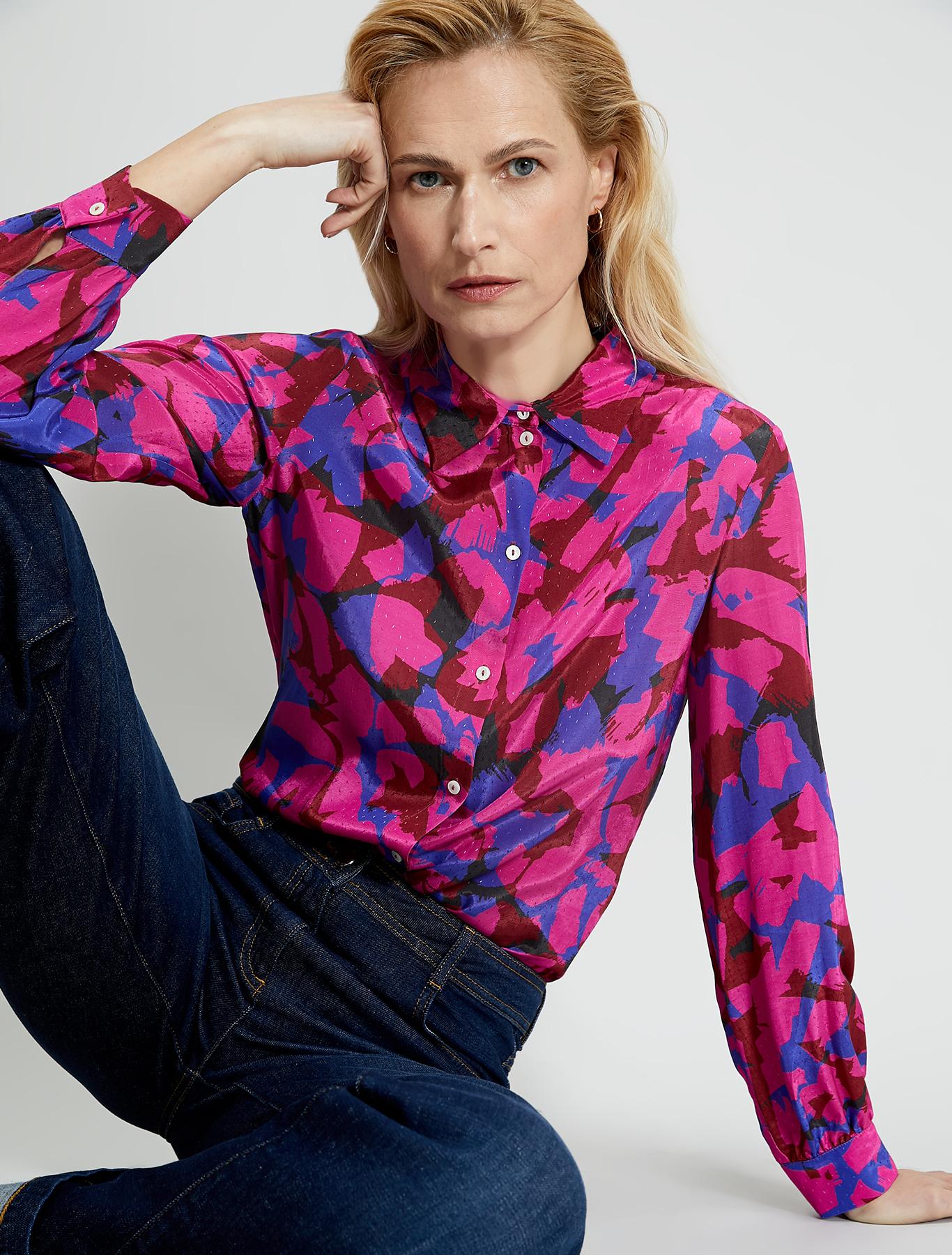 Jacquard patterned shirt - fuchsia pattern - pennyblack