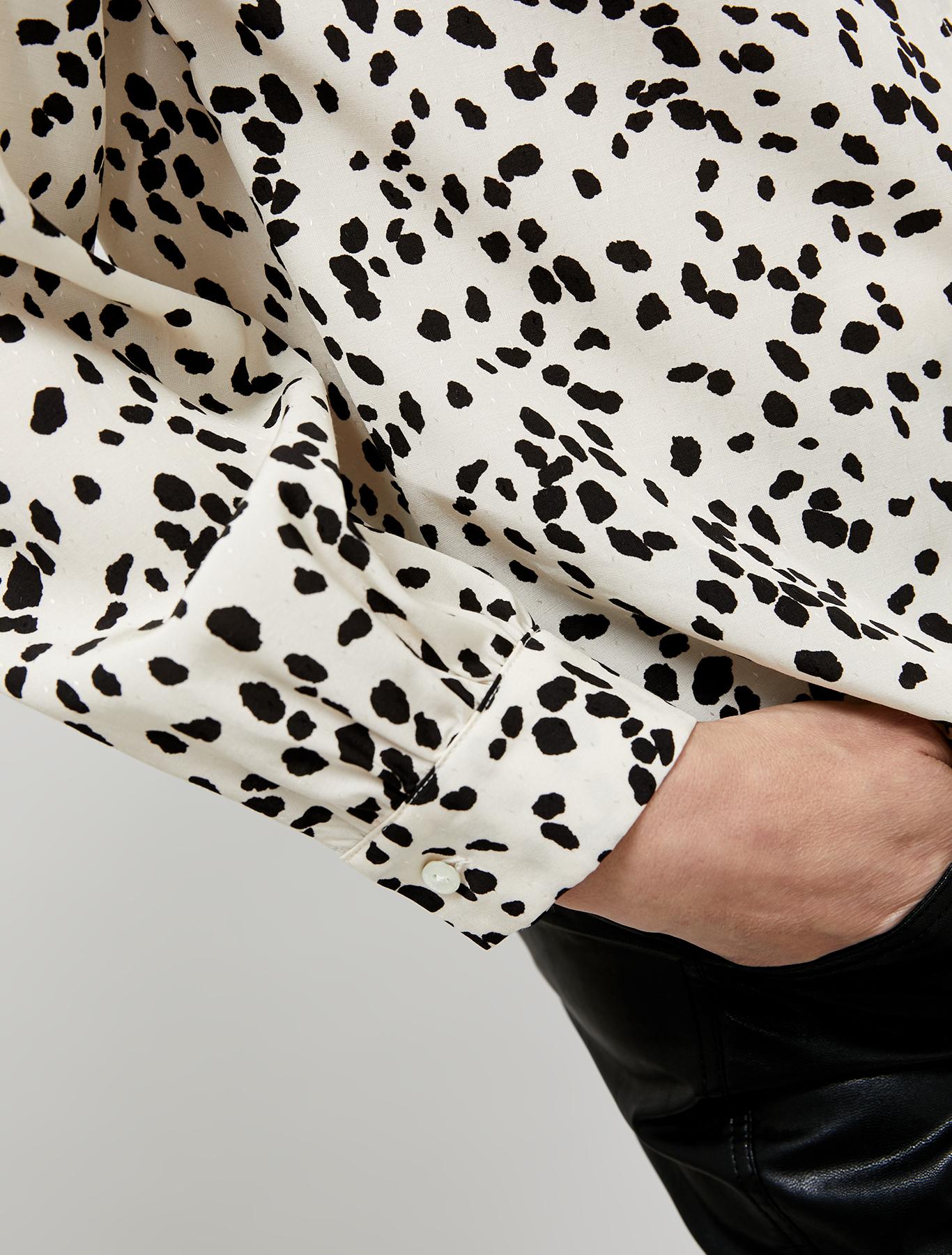 Jacquard patterned shirt - ivory pattern - pennyblack