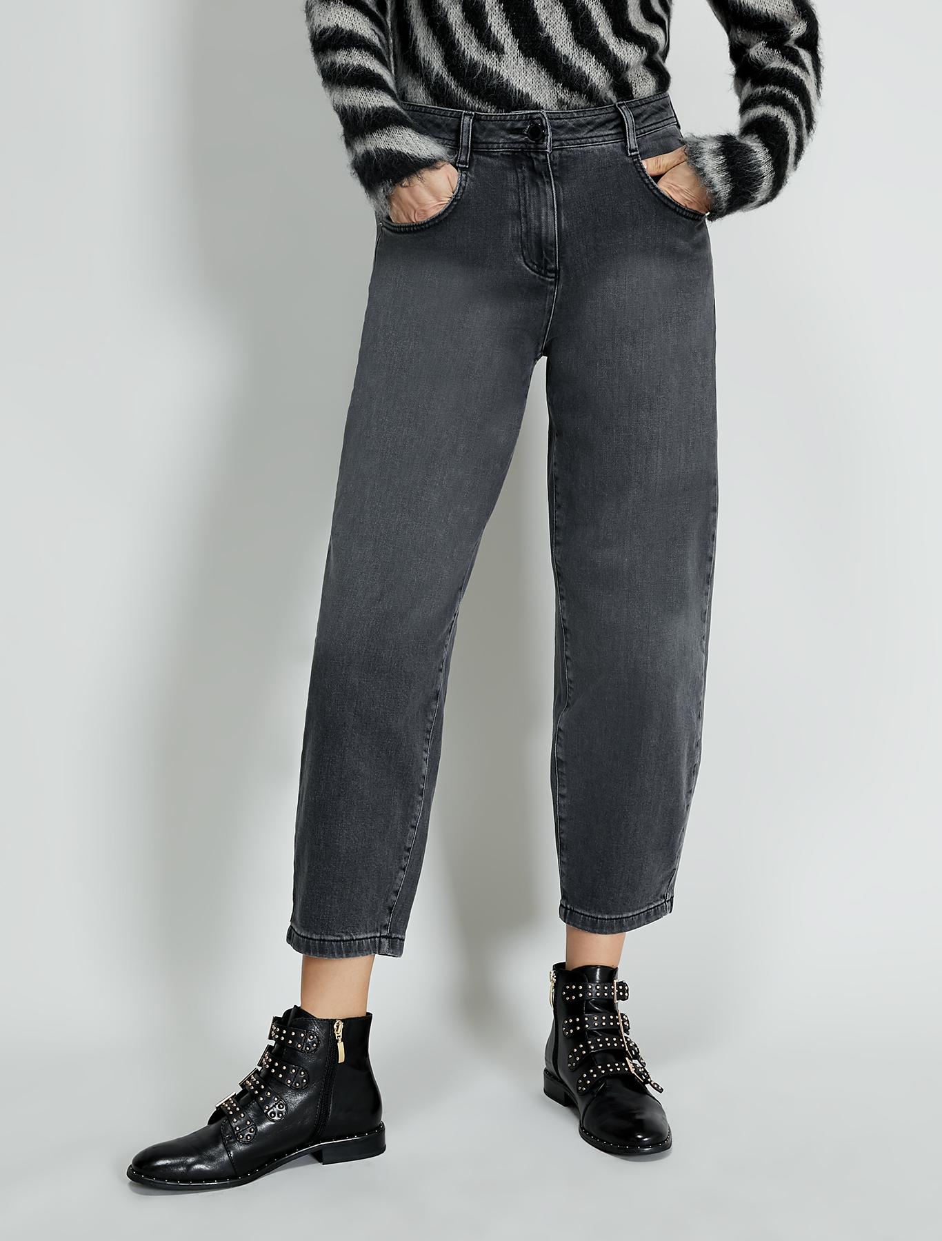 Barrel-leg jeans - black - pennyblack
