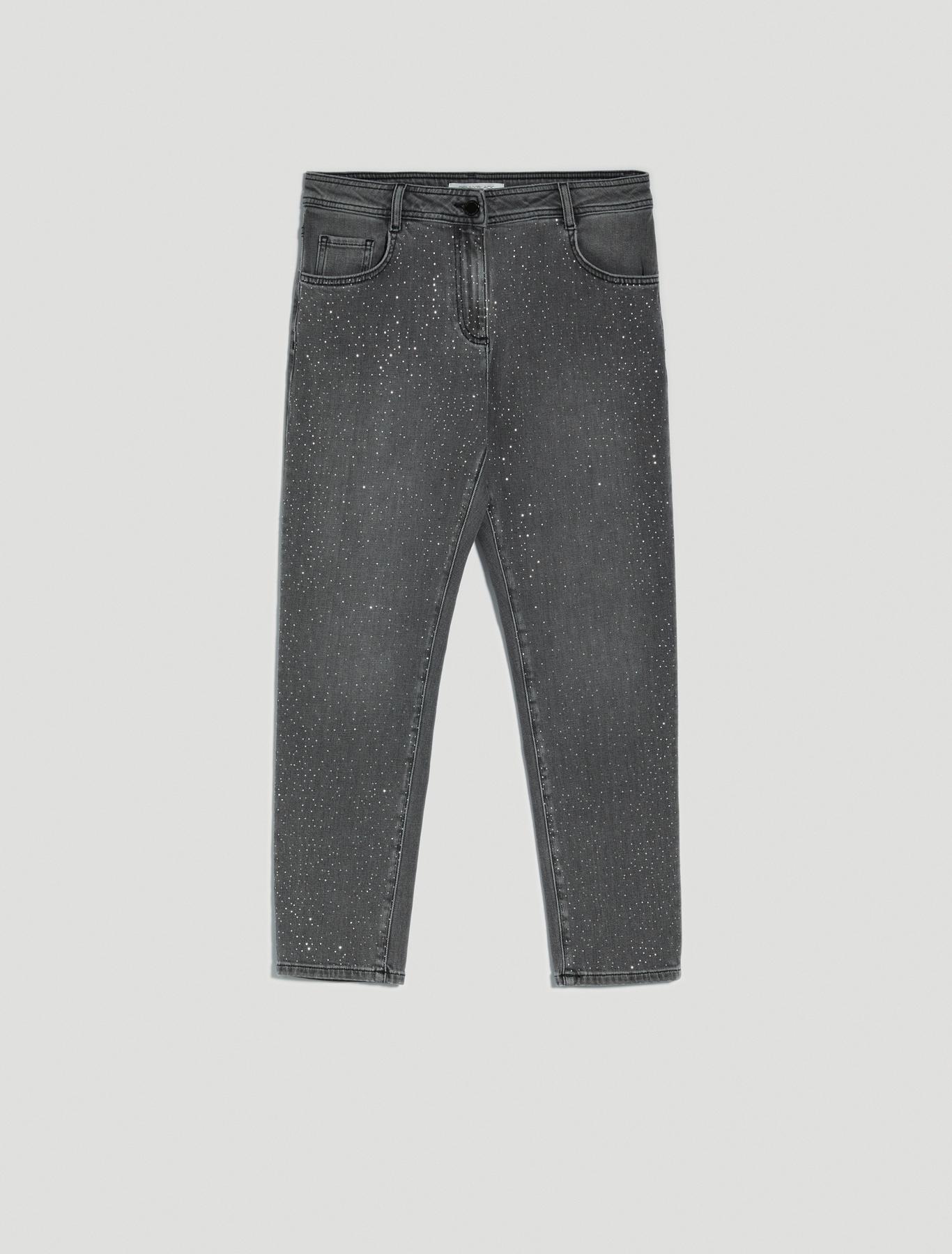Jeans with micro-rhinestones - black - pennyblack