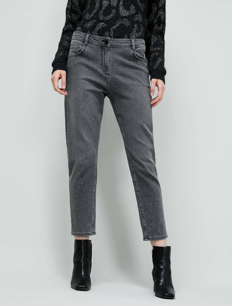 Jeans con micro-strass - nero - pennyblack