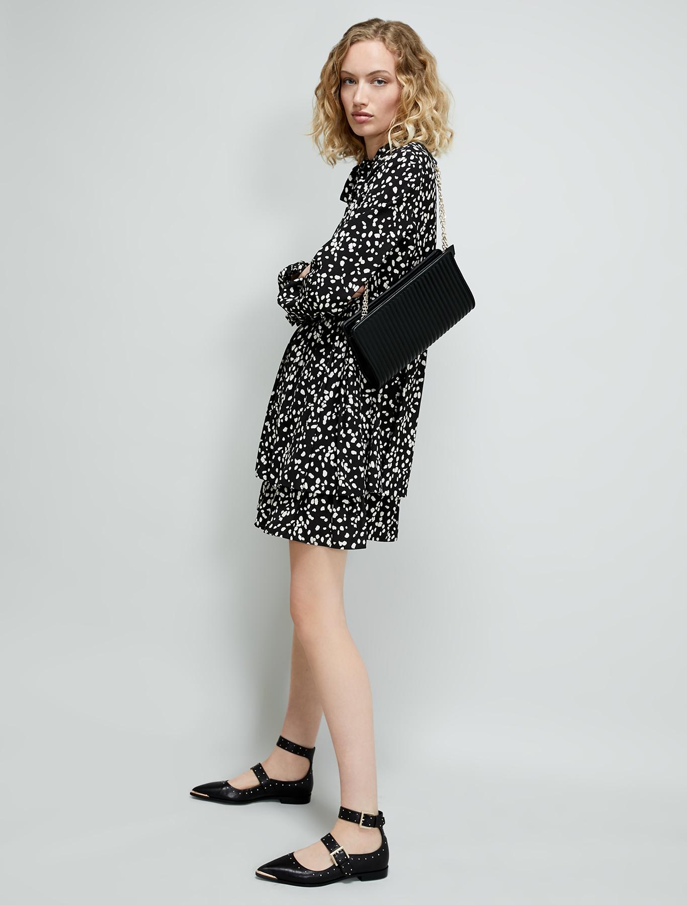 Patterned jacquard dress - black pattern - pennyblack