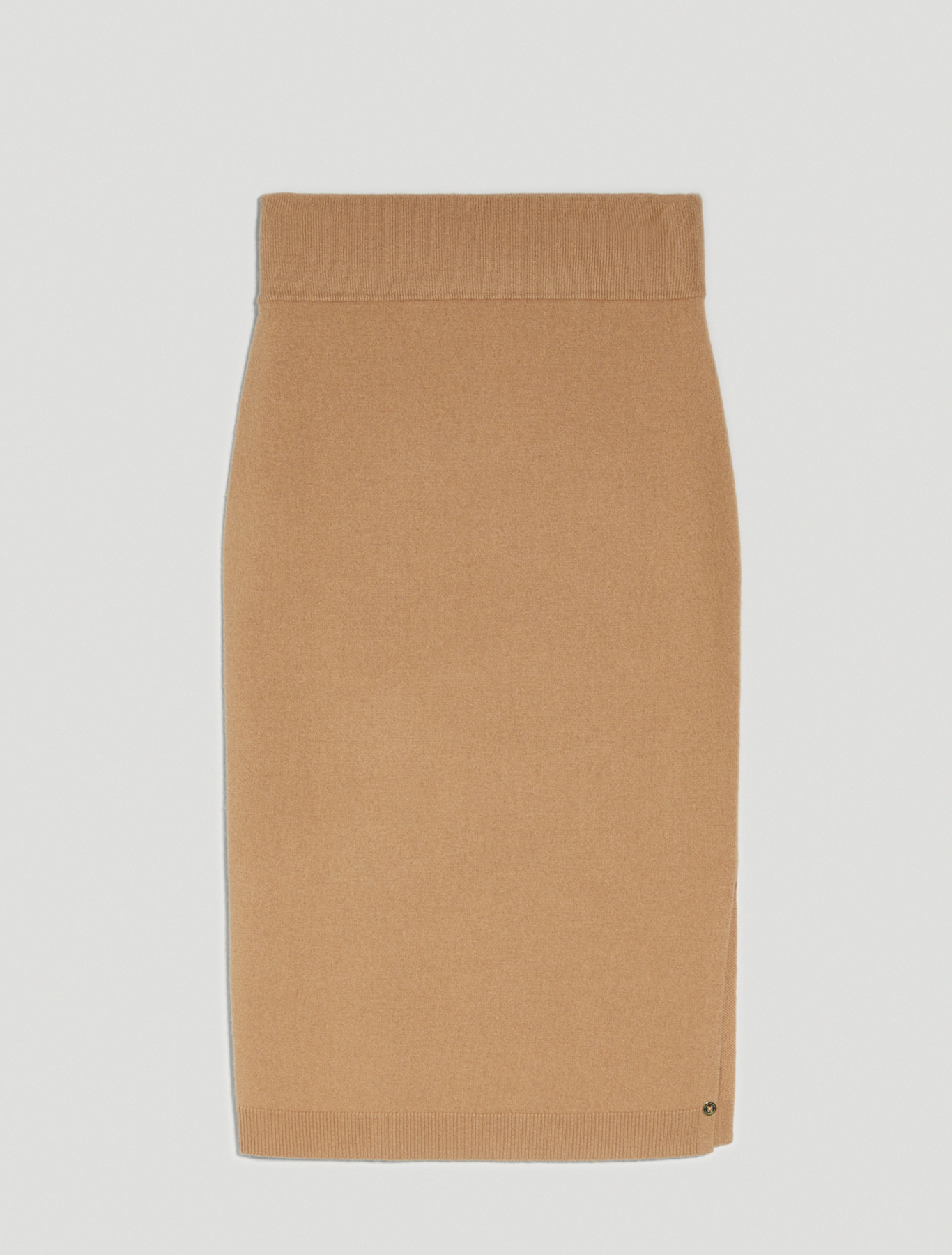 Knit pencil skirt - beige - pennyblack