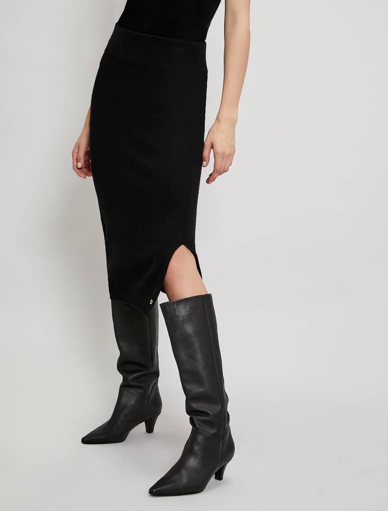 Knit pencil skirt - black - pennyblack