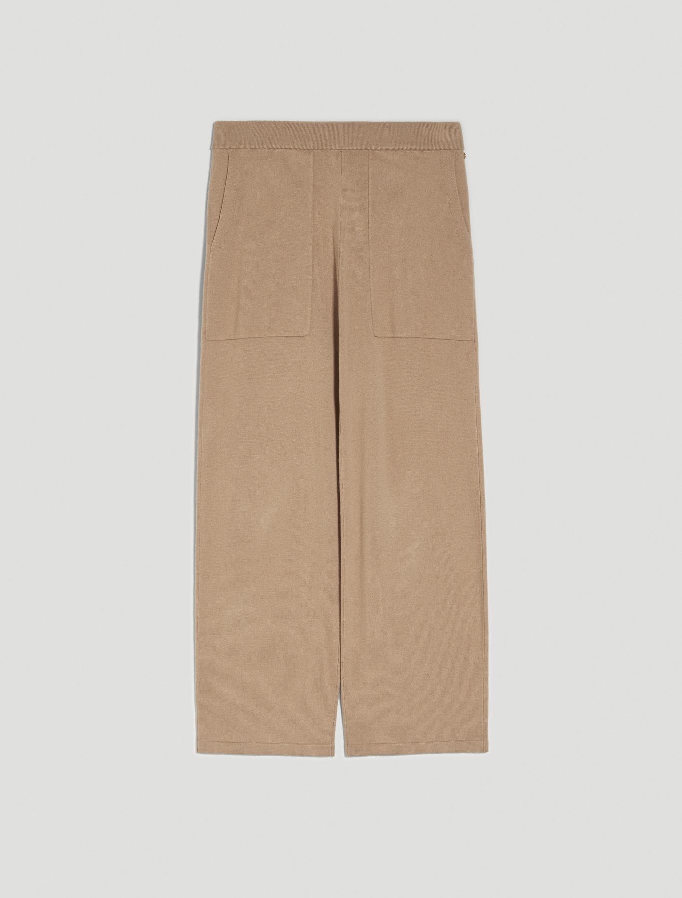 Soft knit trousers - beige - pennyblack