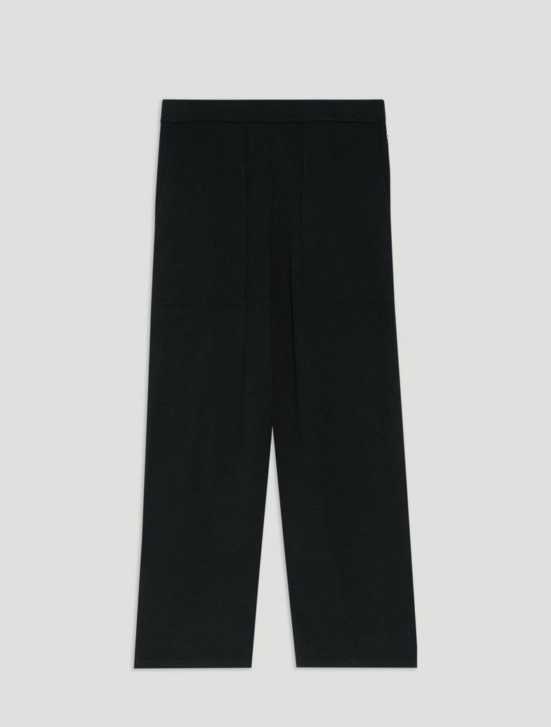 Soft knit trousers - black - pennyblack