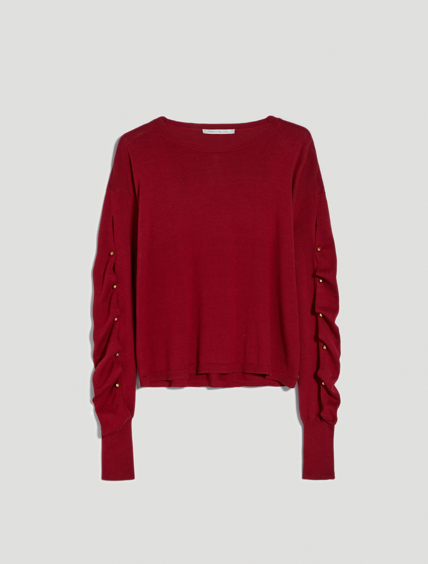 Jumper with draped sleeves - red - pennyblack