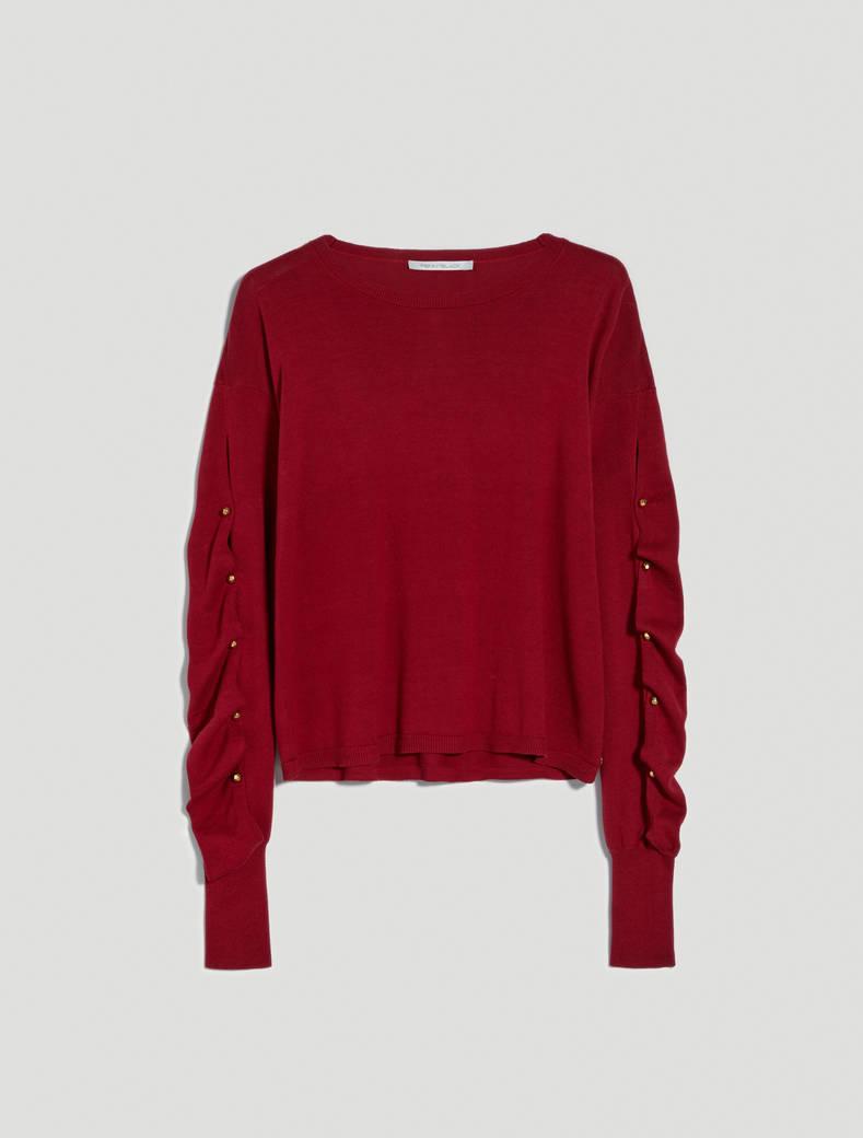 Maglia con maniche drappeggiate - rosso - pennyblack