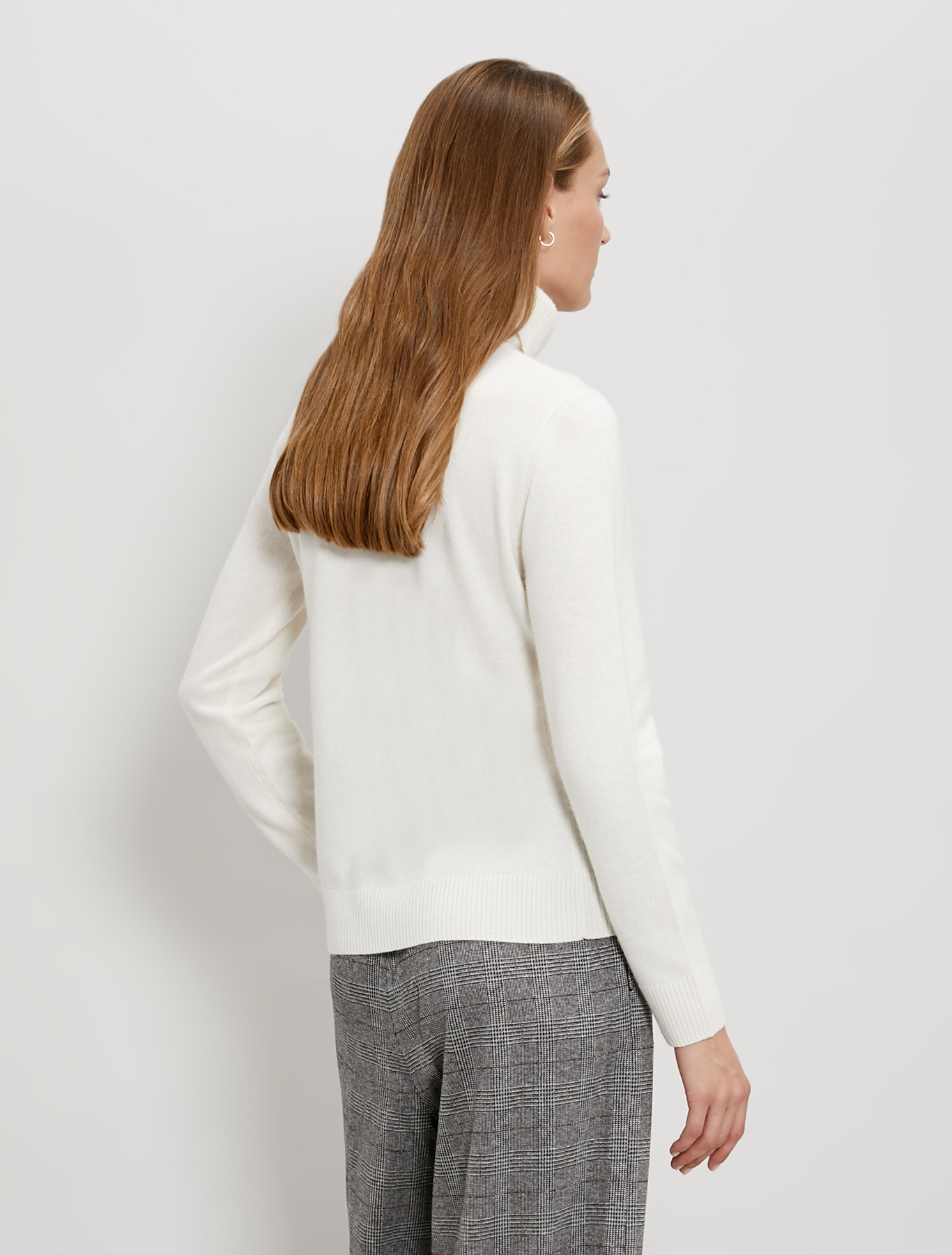Slim polo neck jumper - ivory - pennyblack