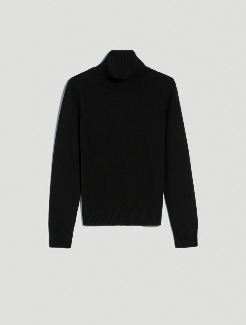Slim polo neck jumper - black - pennyblack