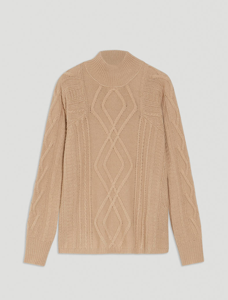 Pullover in a mixture of stitches - beige - pennyblack