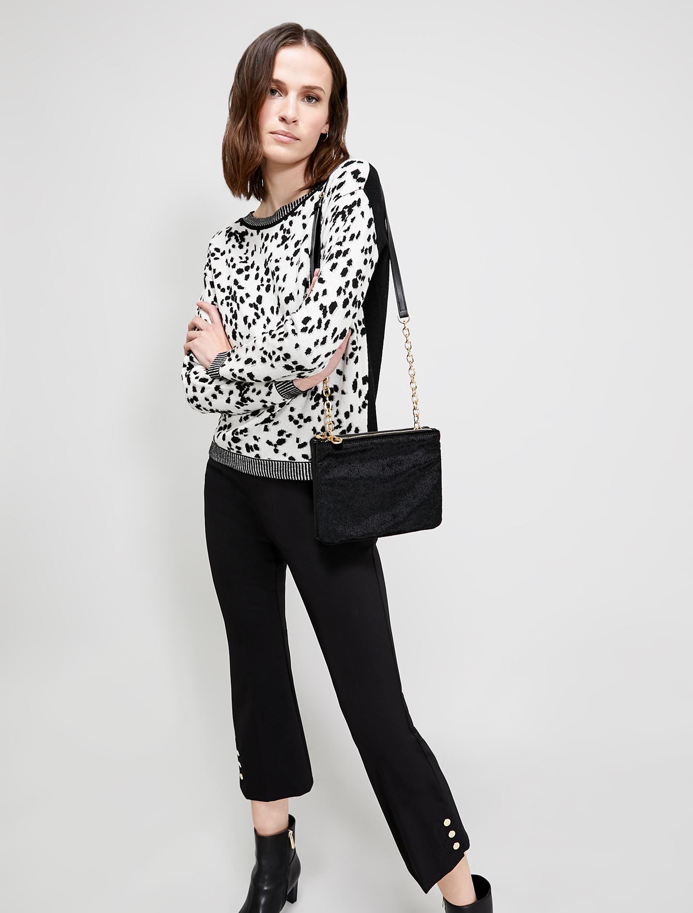 Dalmatian jacquard jumper - black - pennyblack
