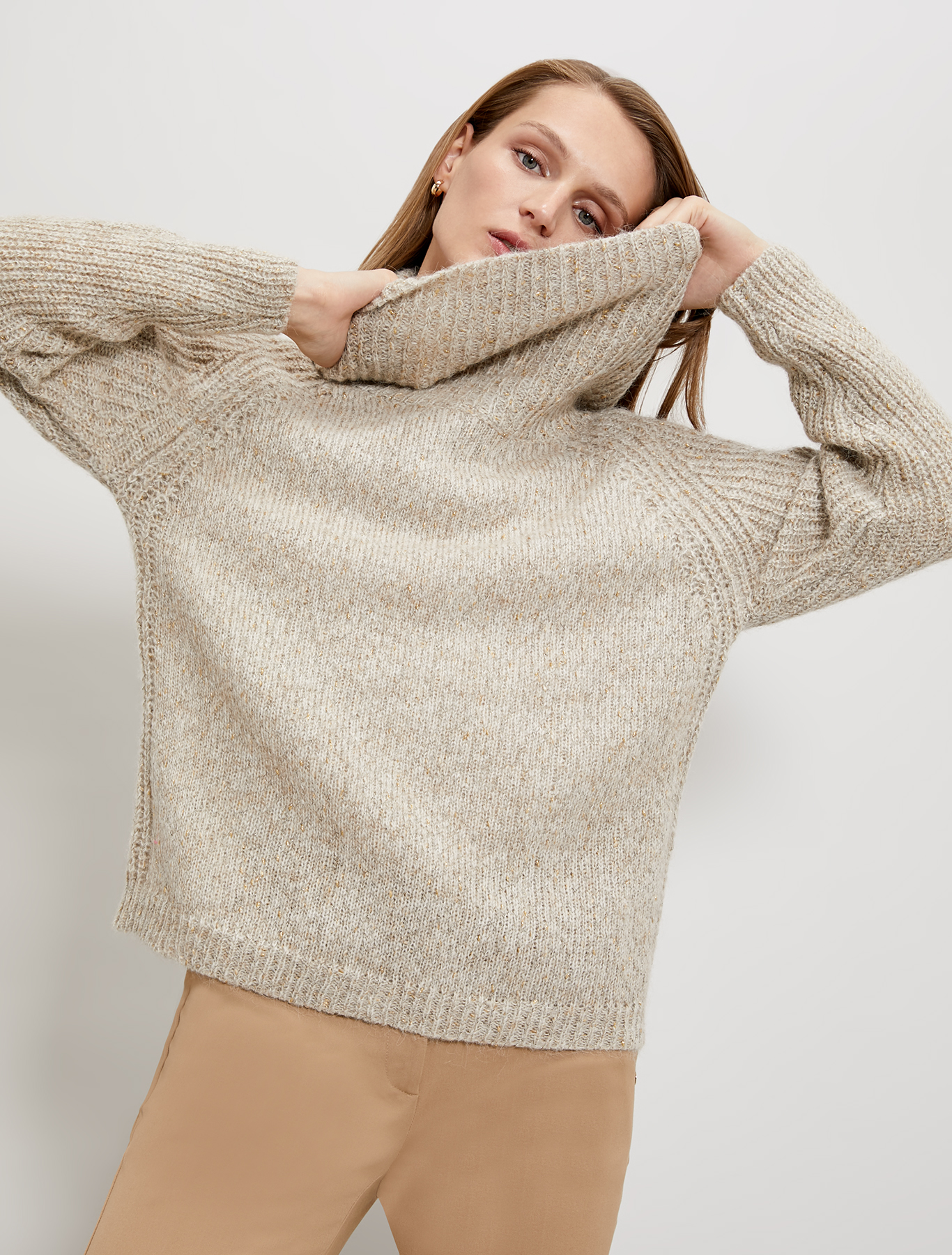 Pullover in a lamé alpaca blend - ivory - pennyblack
