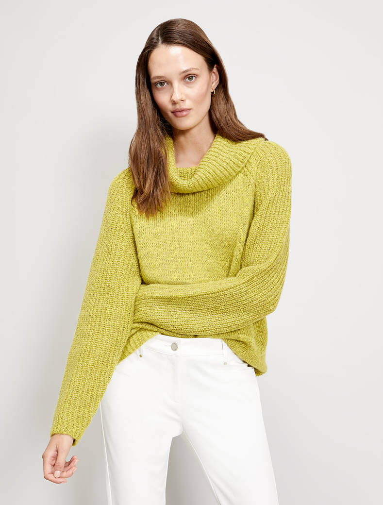 Pullover in a lamé alpaca blend - acid green - pennyblack