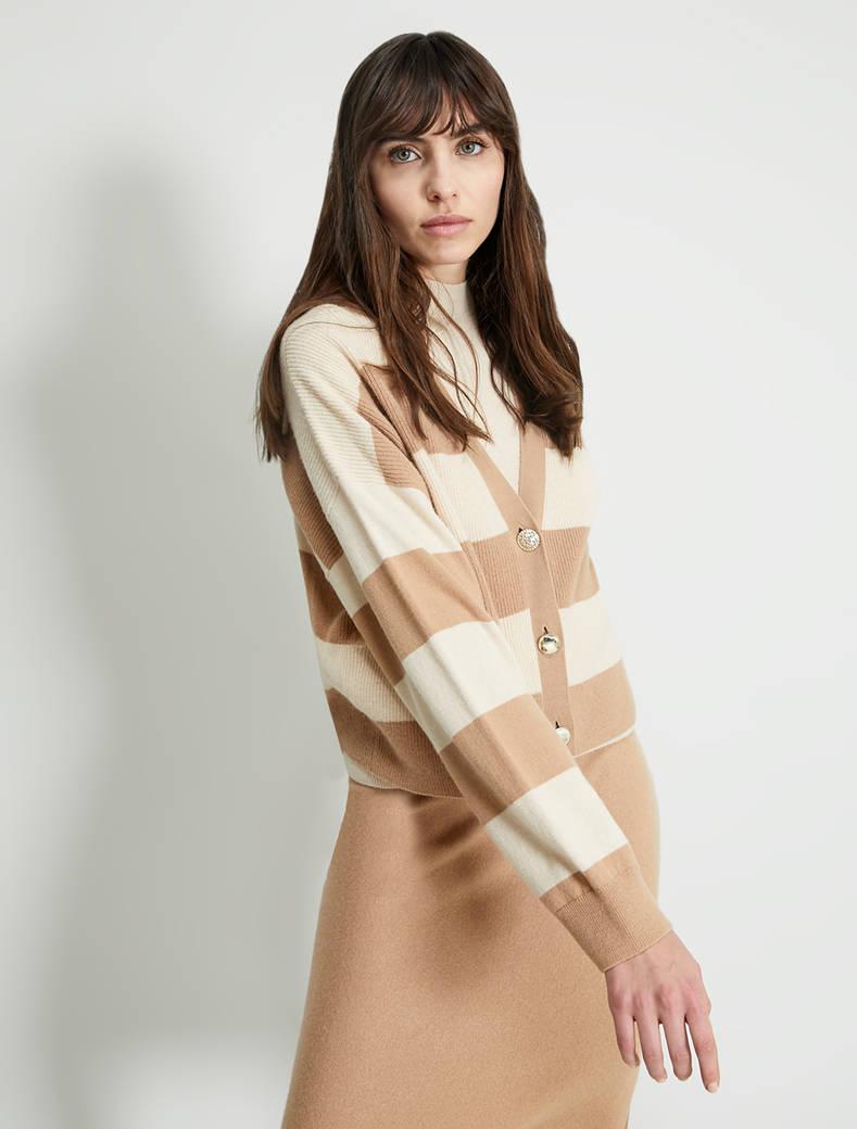 English rib twin set - beige pattern - pennyblack