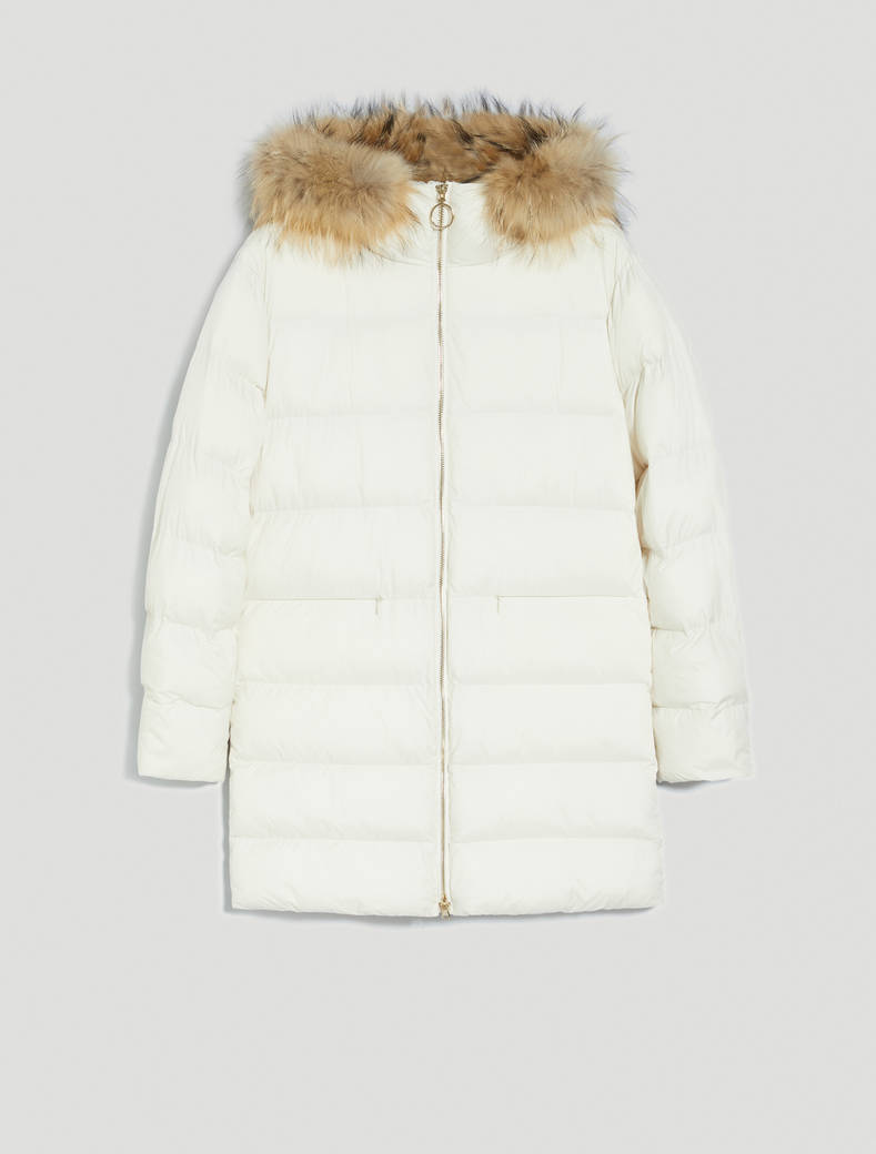 Padded coat with hood - ivory - pennyblack
