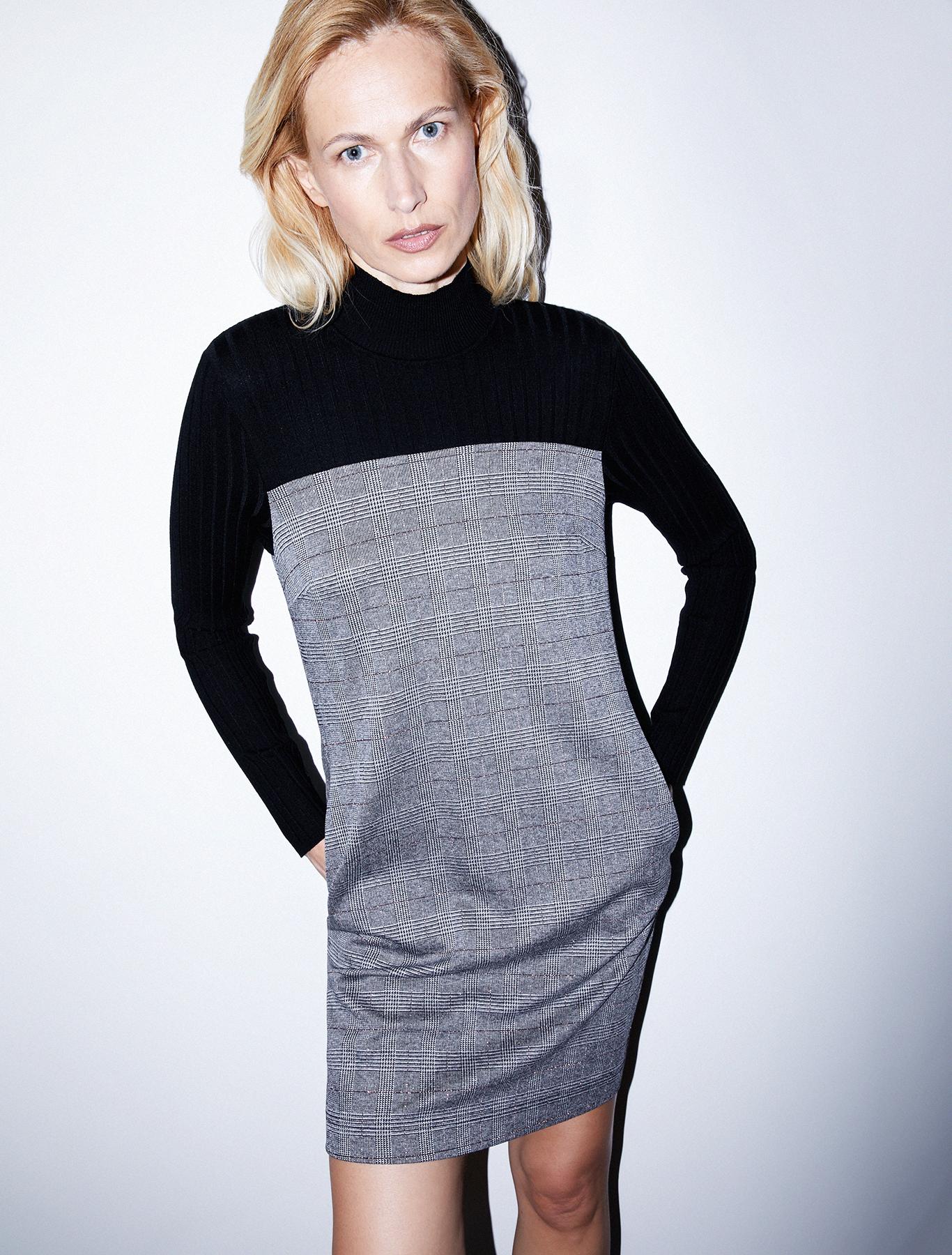 Jersey and knit dress - black pattern - pennyblack
