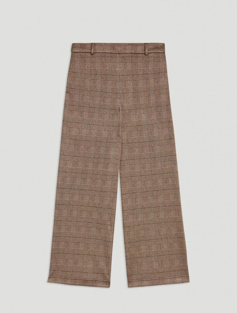 Jacquard jersey trousers - beige pattern - pennyblack