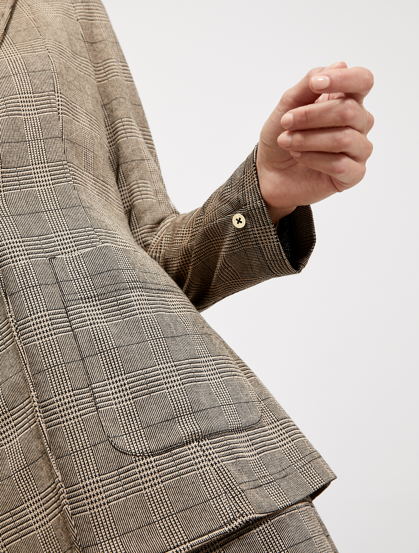 Blazer in jersey jacquard - fantasia beige - pennyblack
