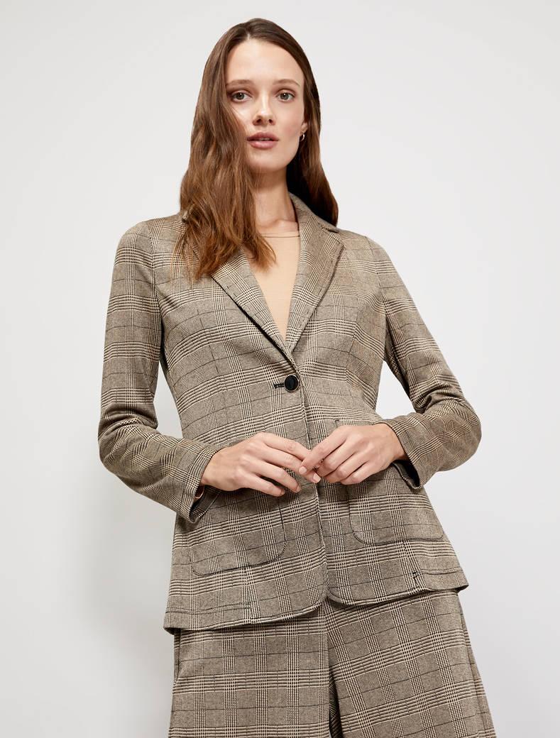 Jacquard jersey blazer - beige pattern - pennyblack