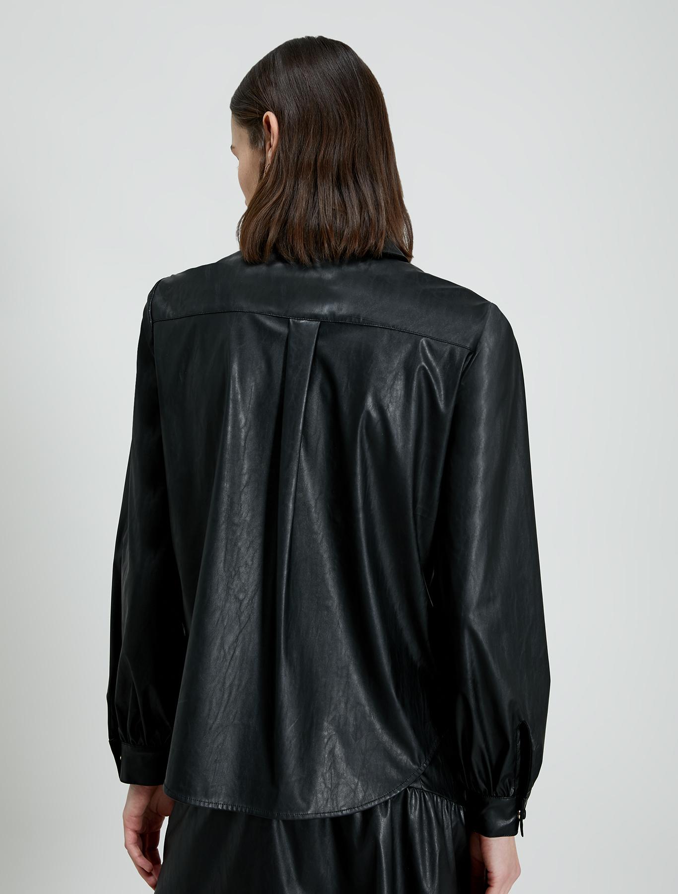 Coated jersey shirt - black - pennyblack