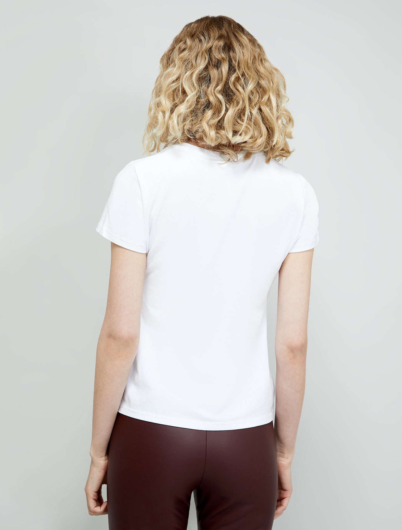 "Stretch cotton ""love"" T-shirt - white - pennyblack"