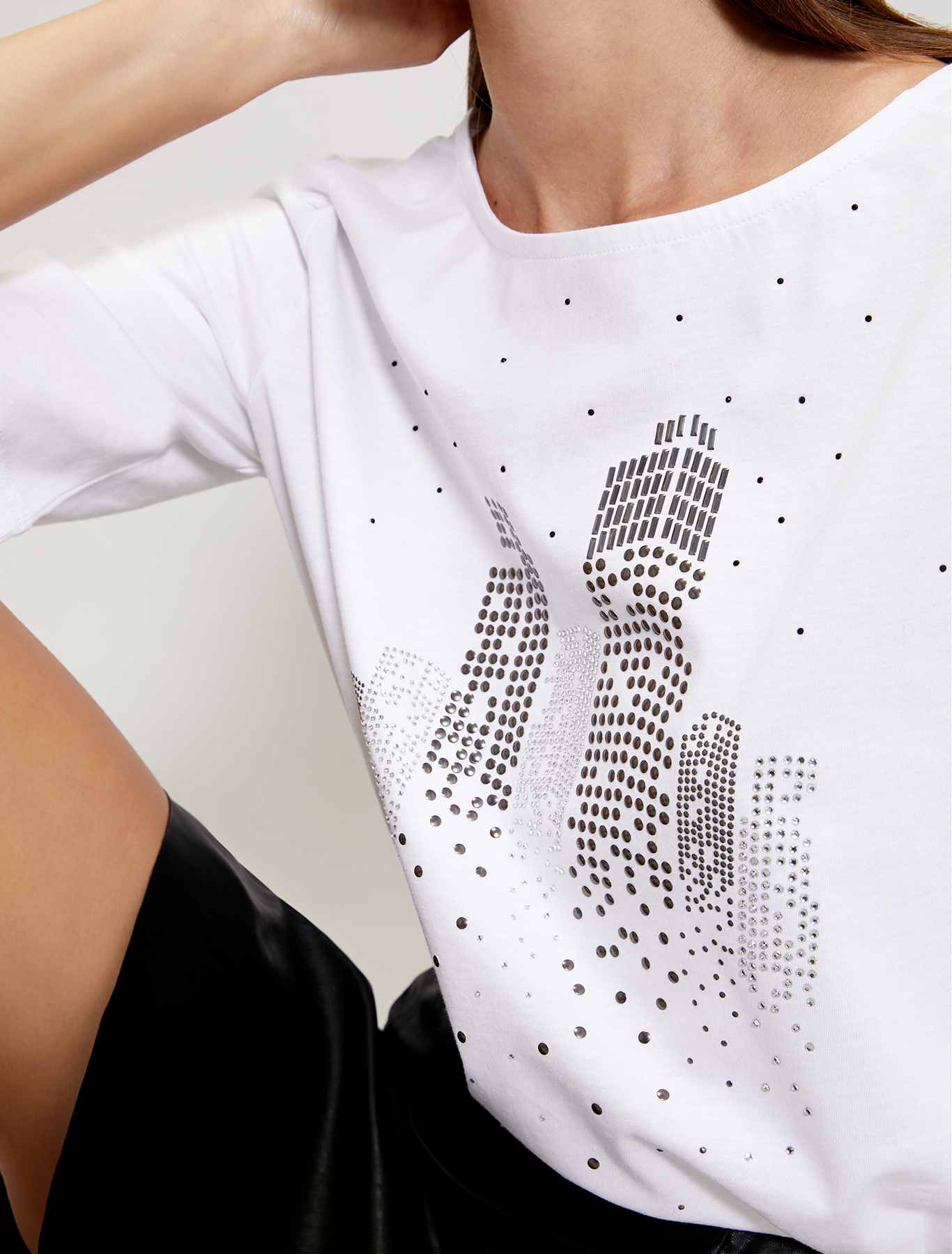 Sparkling cotton T-shirt - white - pennyblack