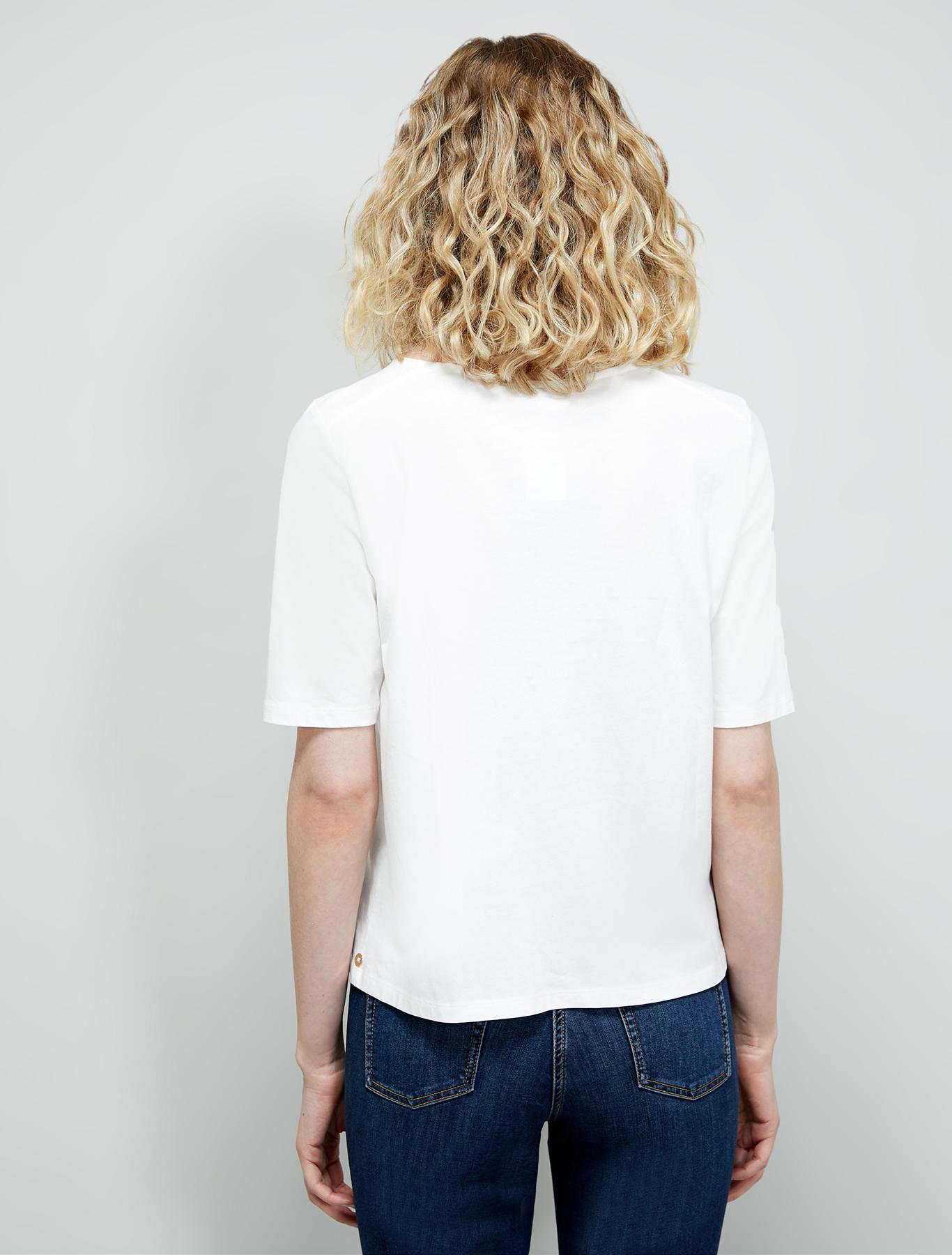Sparkling cotton T-shirt - ivory - pennyblack