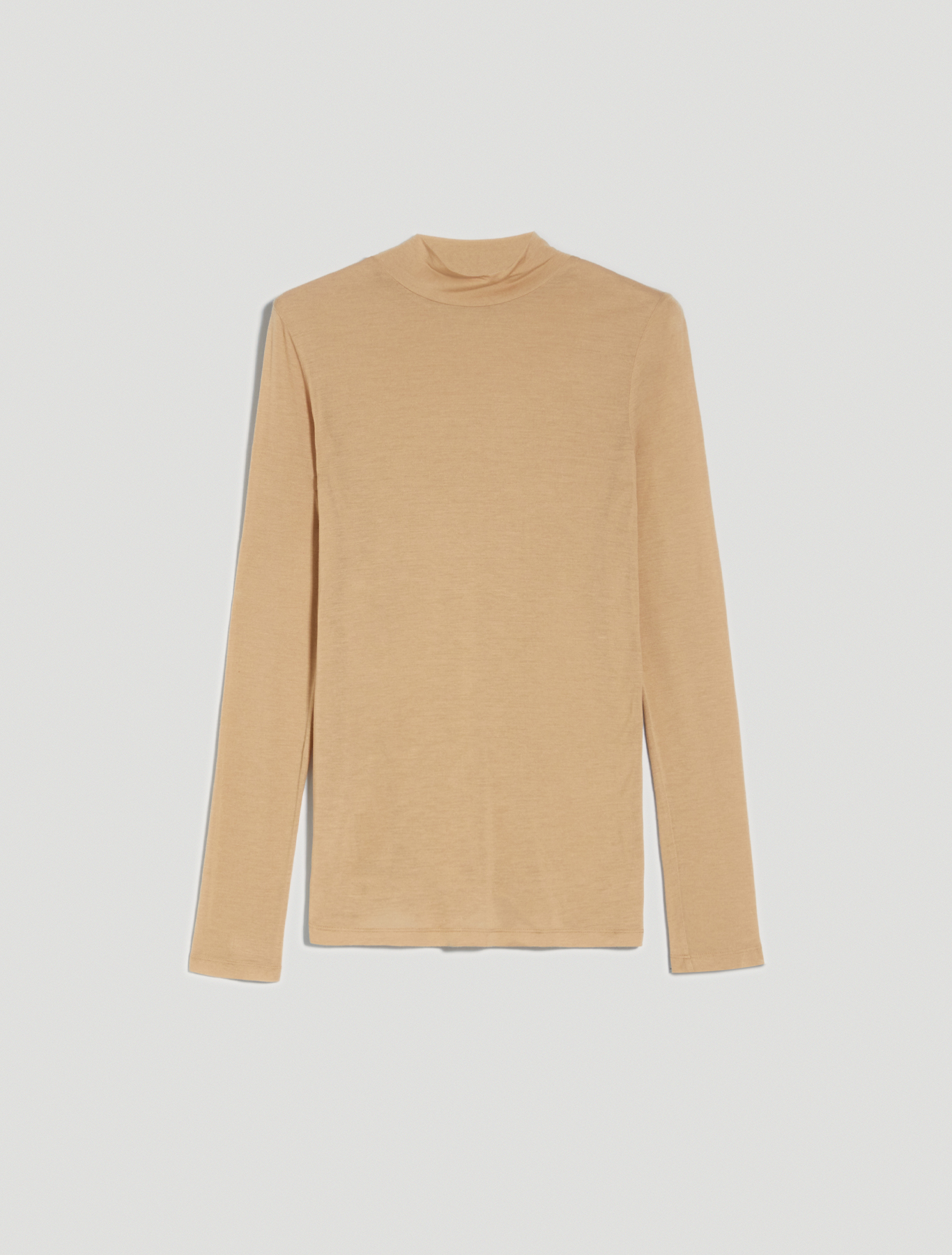 Micromodal and cashmere polo neck - beige - pennyblack
