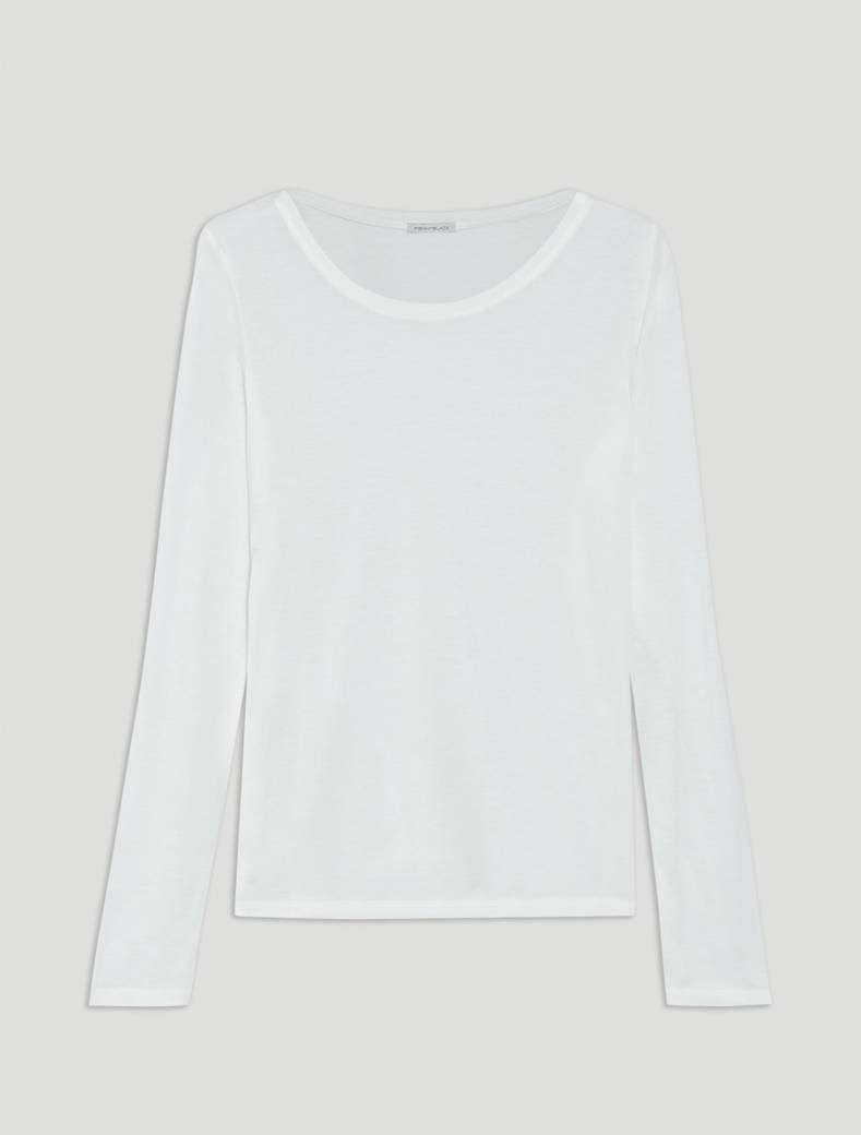 Micromodal and cashmere T-shirt - ivory - pennyblack