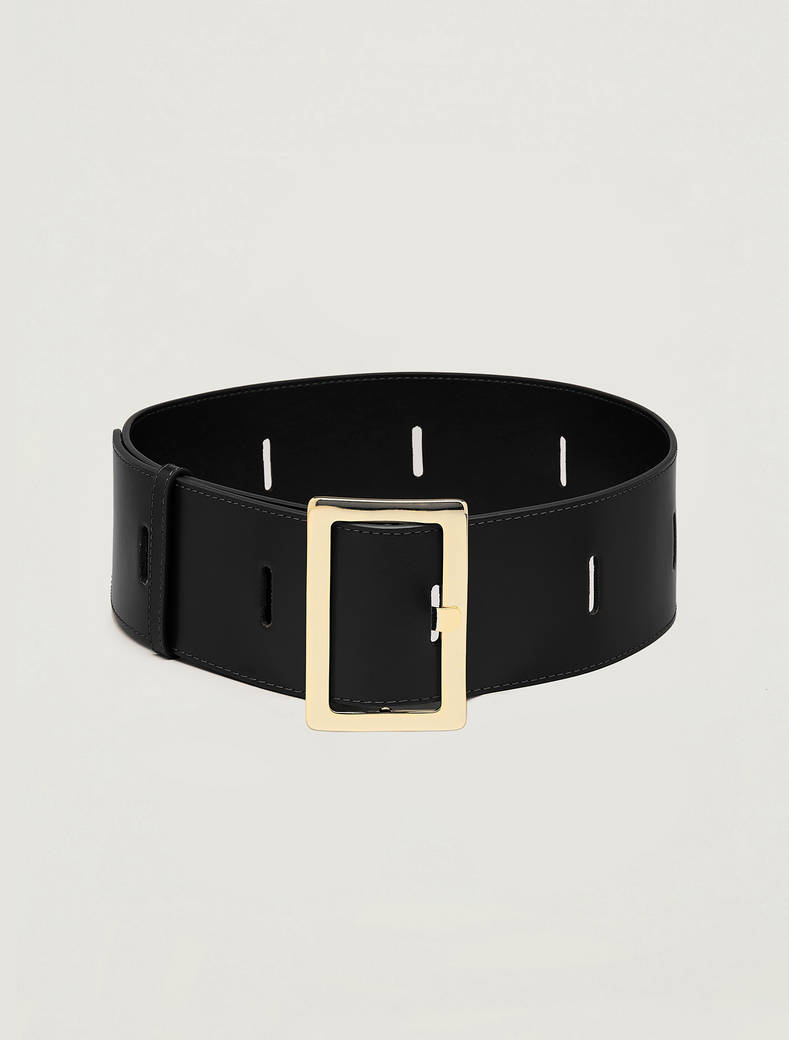 High belt with cut-outs - black - pennyblack
