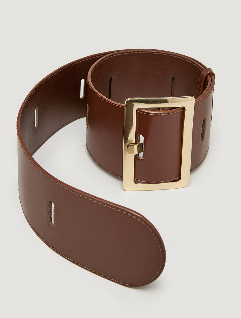 High belt with cut-outs - tan - pennyblack
