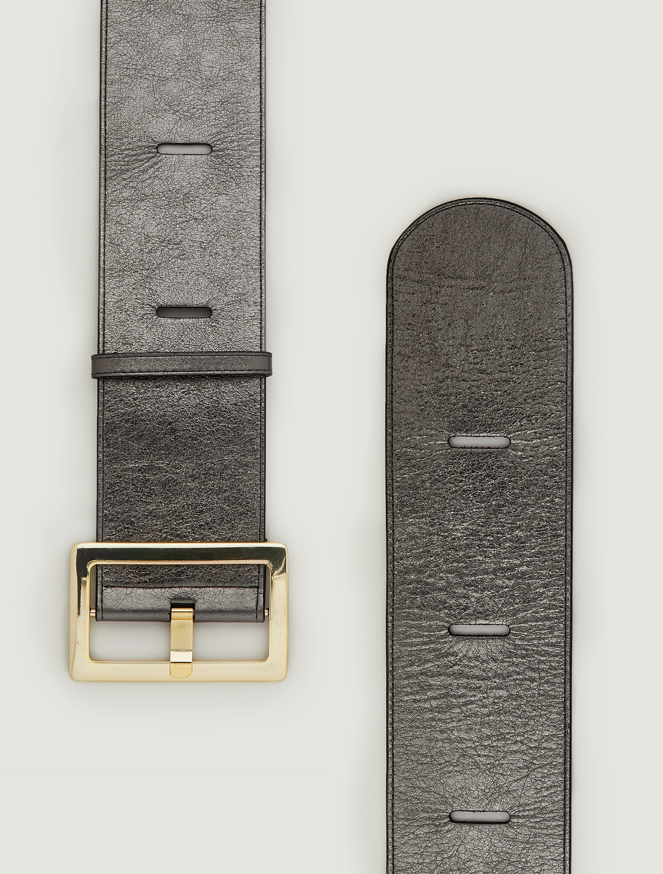 Cintura alta con intagli - argento - pennyblack