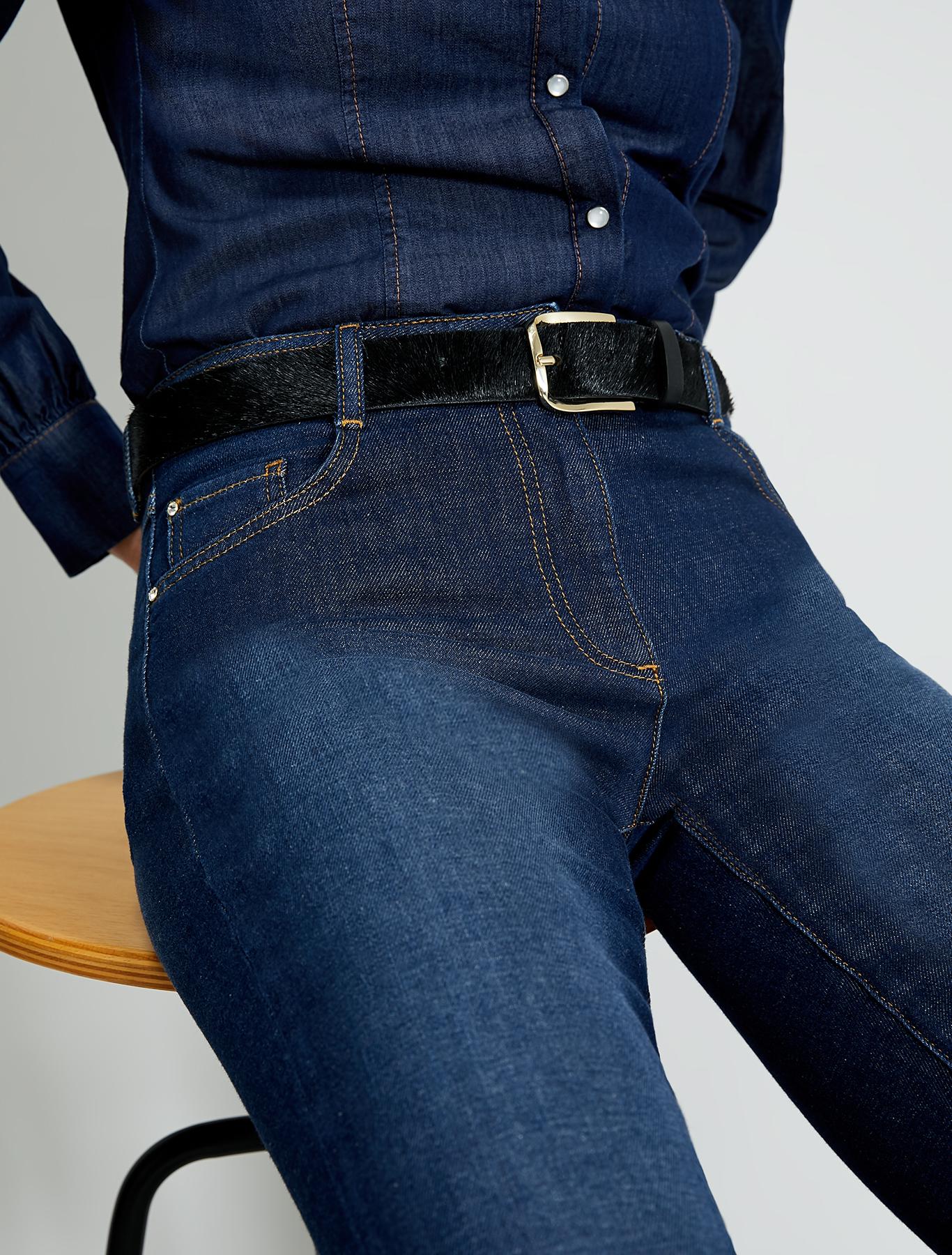Pony hair effect belt - black - pennyblack